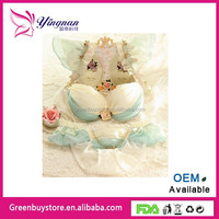New Style Dream Angels 3-Breasted Push Up Bra Burst Milk Flower Metal Lace Side Sexy Women Underwear Bra Set