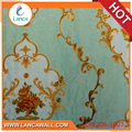 New Design Damask Cheap Green Wallpaper PVC For Home Decoration