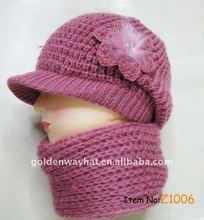 Urban winter hat and scarf set