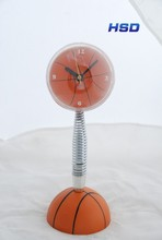 HSD Promotional Basketball Shape Sporty Alarm Clock 2043GS Basketball