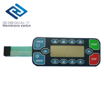 CNC Center Machine Membrane Control Panel with High Quality PET PC Membrane Switch Keycap