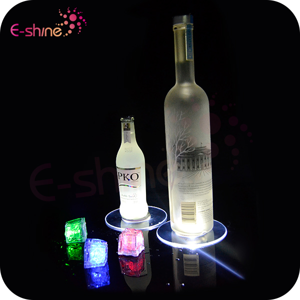 Popular Table Accessories Clear Plastic LED Light Up Glass Pads