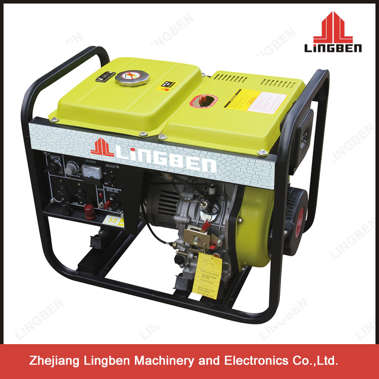 Lingben 5Kw Diesel Welder Generator LB186FA Engine 220V Used Diesel Welder Generators For Sale LB4000LNW