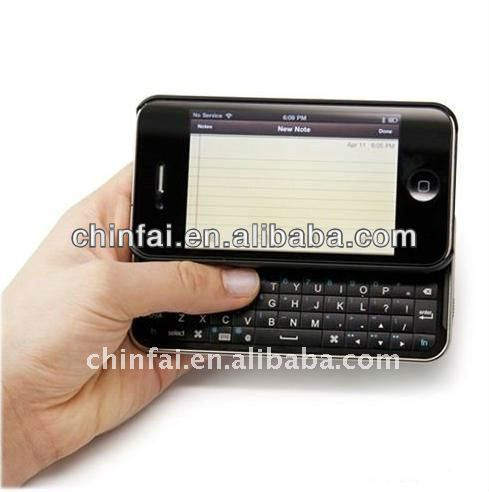 Stylish Design Folding Wireless Mini Keyboard for Iphone 4/4S