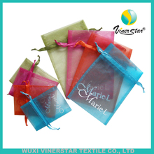 Multiple Color Rectangle Shape Light Color With Drawstring Various Size Organza Pouch