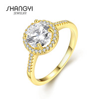21K Solid Single Stone Gold Ring