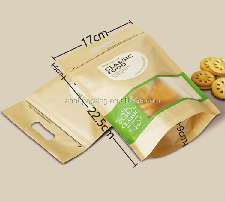 Promotional Red Food Packing Bag For Cookies