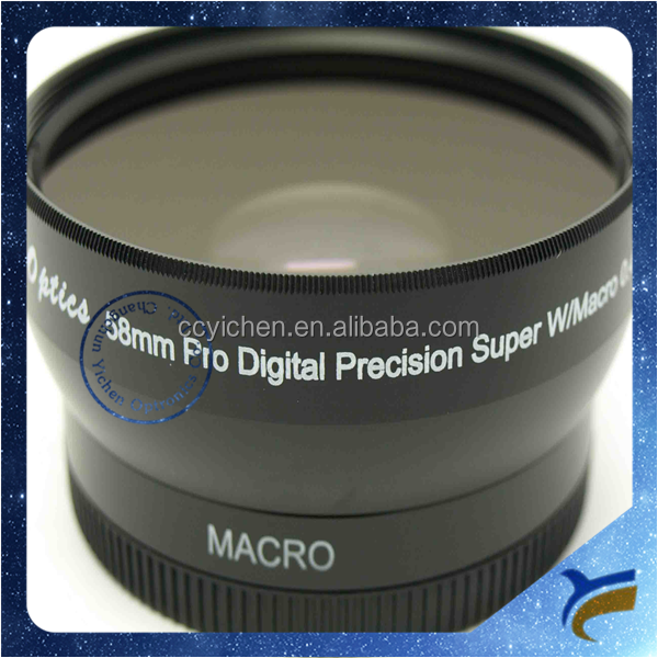 Wholesale 52mm 58mm 0.45X Super Wide Angle Macro Conversion Lens for DSLR cameras for Sony Canon Nikon Olympus Panasonic Pentax