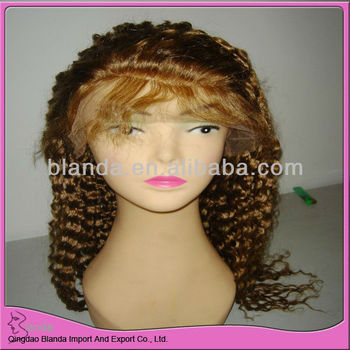 Brazilian Human hair full lace wig with baby hair