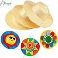 Children DIY painting straw hat graffiti straw hat