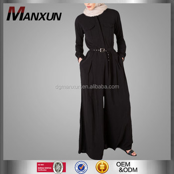 New Arrival Muslim Women Dress Pictures Long Sleeve Designer Jumpsuits For Ladies Islamic Clothing Wholesale