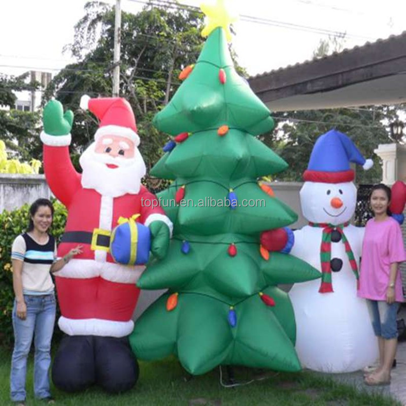 2014 New Design Cheap Nylon Fabric Inflatable Christmas Products For Holiday Christmas