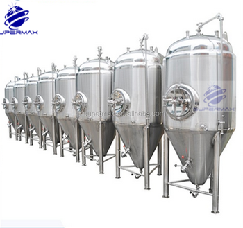 10BBL cone beer fermentation tank with cooling jacket