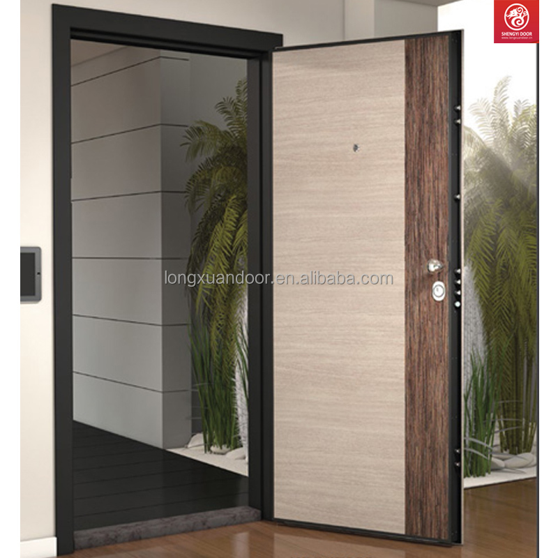 Armored steel wooden door Best italian Steel Security Doors Residential