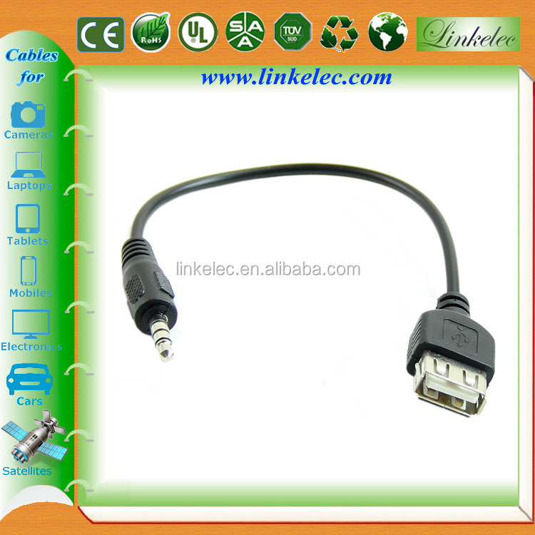 Shenzhen high quality shielded usb to 3.5mm jack adapter