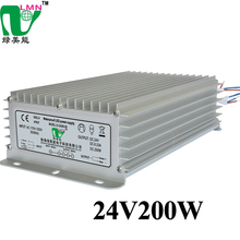Hot sell 24V 8.33A 200w Aluminum shell ac to dc waterproof led power supply for advertising lamp