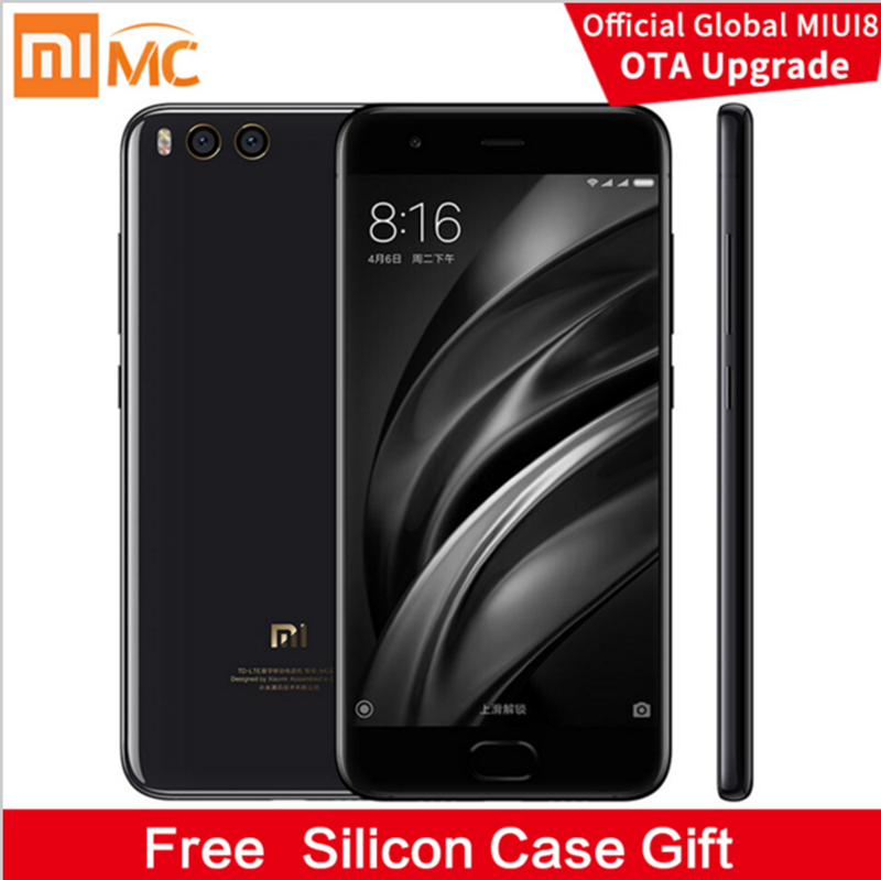 "Original Xiaomi Mi 6 Mi6 Ceramics Version Mobile Phone 6GB RAM 128GB Snapdragon 835 Octa Core 5.15"" 12MP NFC Dual Cameras"