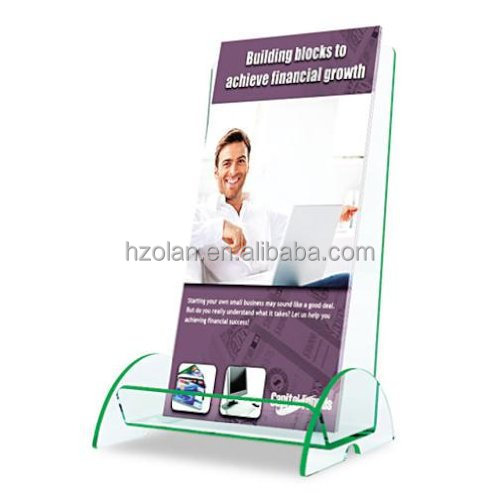 Clear Acrylic Euro Style Docuholder Leaflet Display Rack