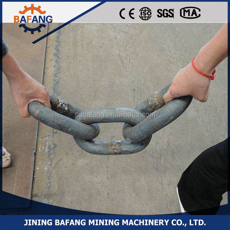 high quality link chain Welded seamless Tri-ring mine link chain for sale