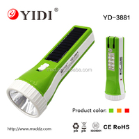 8 led Solar flashlight rechargeable solar power hand-winding crank dynamo 4 led flashlight torch