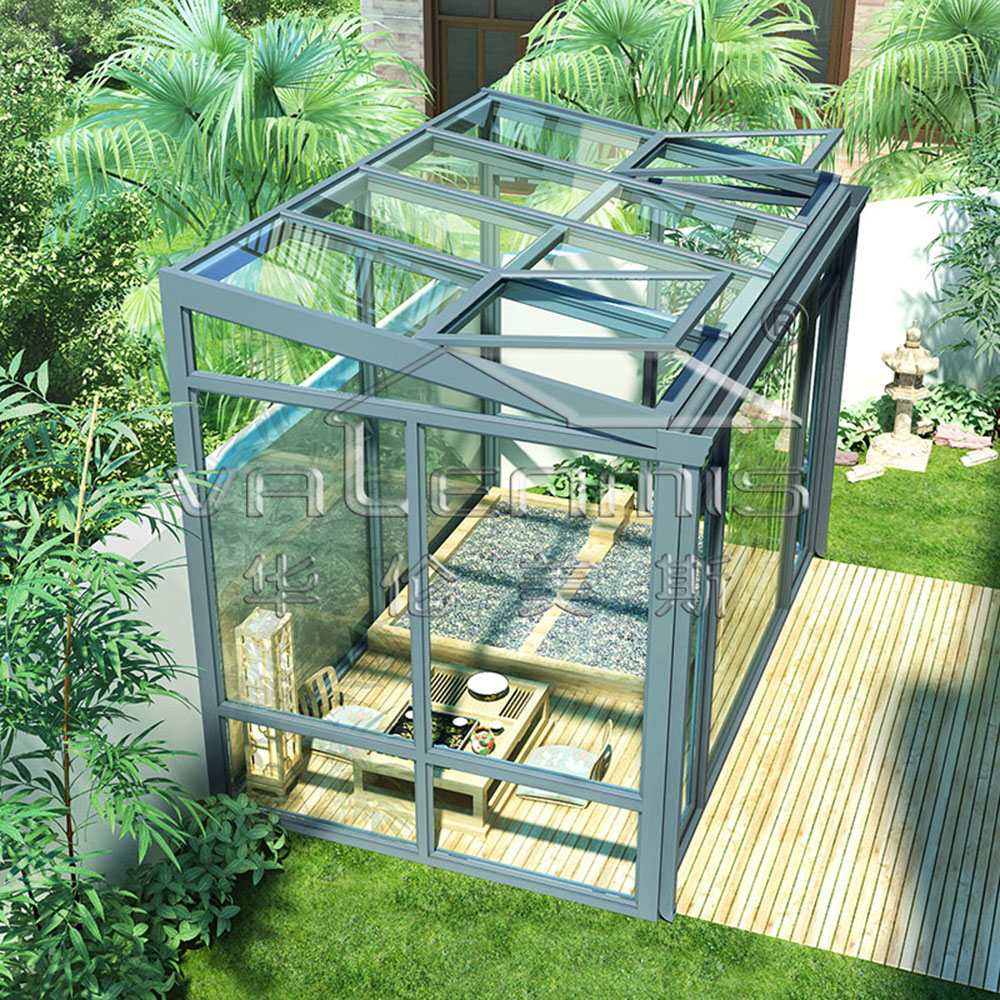 tempered glass making machine Decorative aluminum garden architecture shed sunlight room