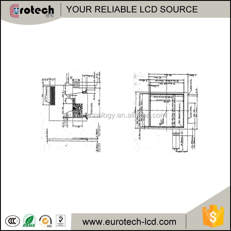 lcd panel with touch screen LS037V7DW03 for hand-held device