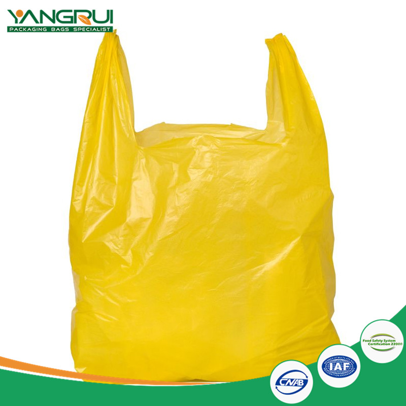 biodegradable ldpe pe t shirt bags customized print recyclable plastic take to go grocery bags