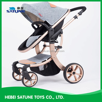 China Exported to Germany ,Ploand baby stroller pram with carriage / classical big wheels baby pram / foldable baby stroller