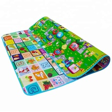 2M * 1.8M High quality customized XPE double-printing waterproof kids crawling mat foam baby play mat