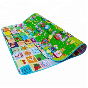 2M * 1.8M High quality customized waterproof kids crawl mat foam XPE double-printing  baby play mat