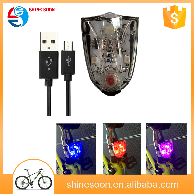 USB rechargeable bicycle light,colorful LED bright Rear tail light,bike Bicycle Light