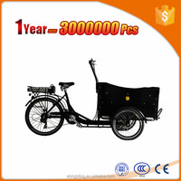 three wheel electric cargo trike differential for tricycle