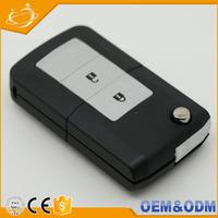 Auto custom key blanks folding remote key fob shell key card case for toyota Estima