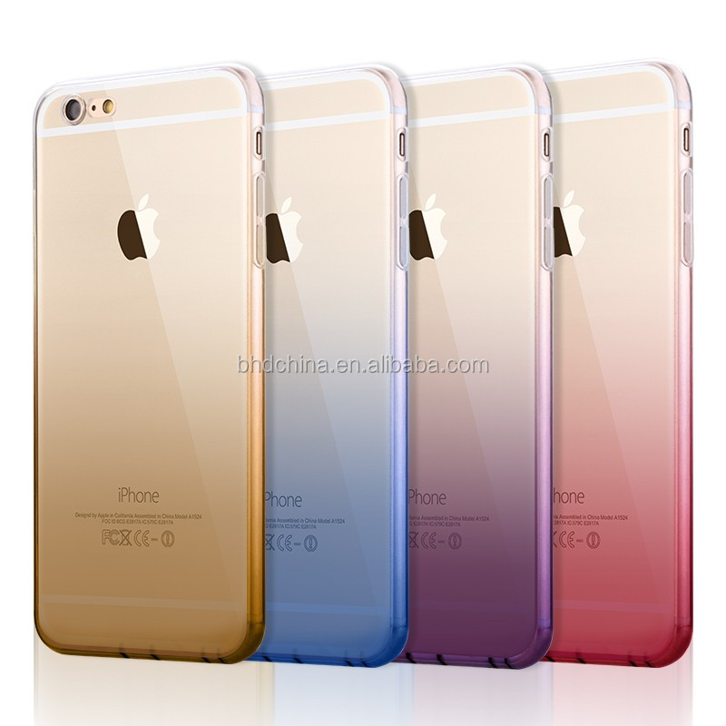 promotional Christmas gift Colorful Ultra Thin cover for iphone 7 case tpu pc