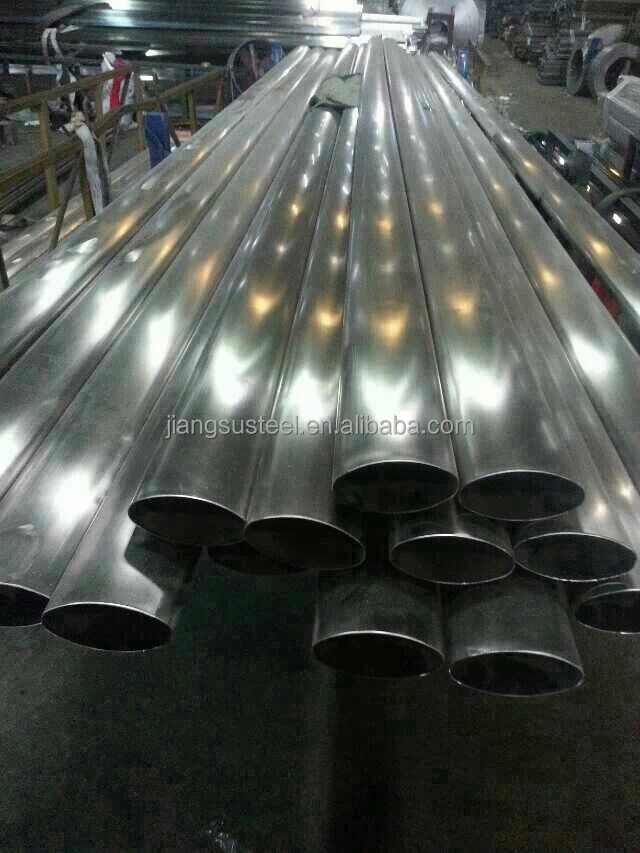 Competitive price stainless steel oval exhaust pipe 304 manufacturer!!!