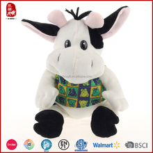 Wholesale moo cow with clothes plush stuffed animal toys
