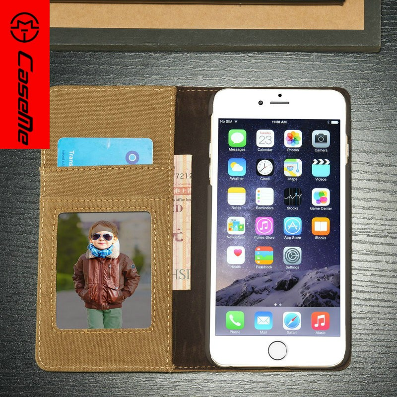 New Arrive Flip Leather Case Magnetic Cards Slots Multifunction Wallet Pu Phone Cover Case For Iphone 6 plus