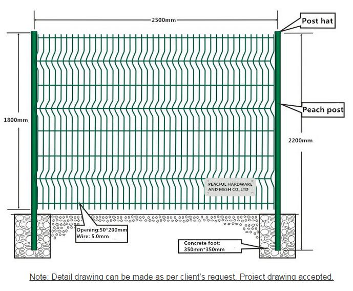 Belle vert triangle flexion jardin treillis m tallique cl ture cloture en treillis avec des plis for Barriere de jardin metallique