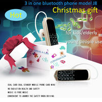 hot selling Christmas gift super mini bluetooth phone 0.66 inch with SIM card slot model J8