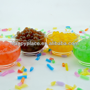 varieties of juice ball,popping boba,bubble tea topping