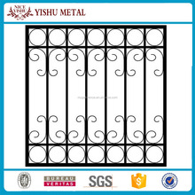 2017 hot sale customization new steel wrought iron window grill design