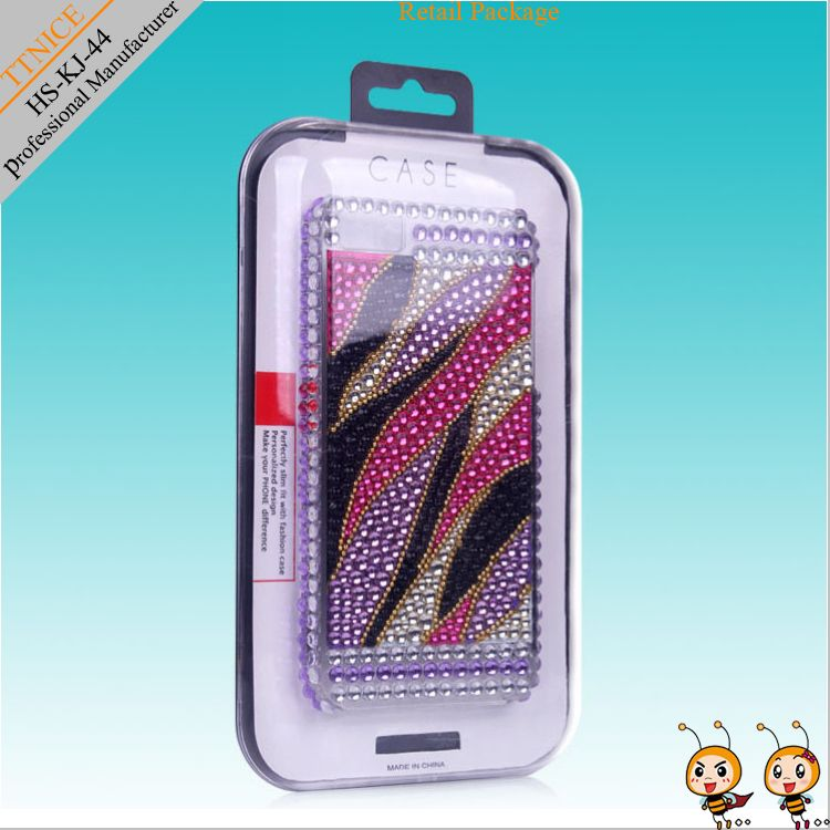 PC transparent packaging boxes for cell phone case/ for iphone5 case packaging