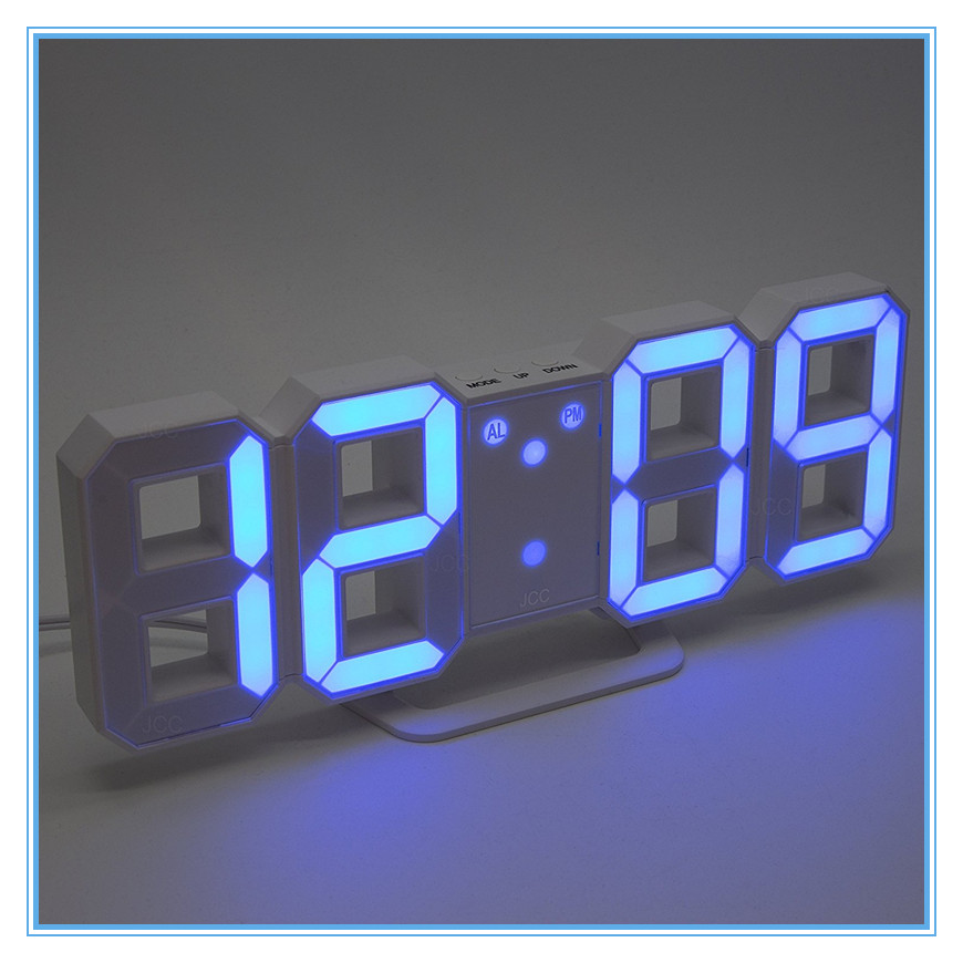 Digital Table Desktop Alarm Clock 3D LED Modern Clock for home decoration and office use
