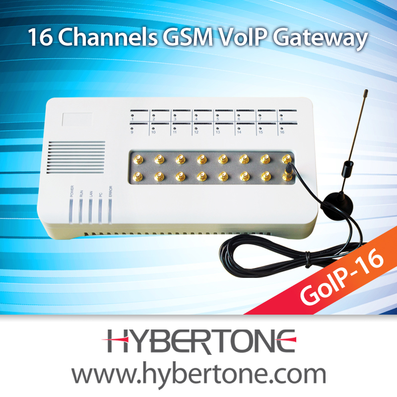 16 Ports GoIP gateway with digital pbx system