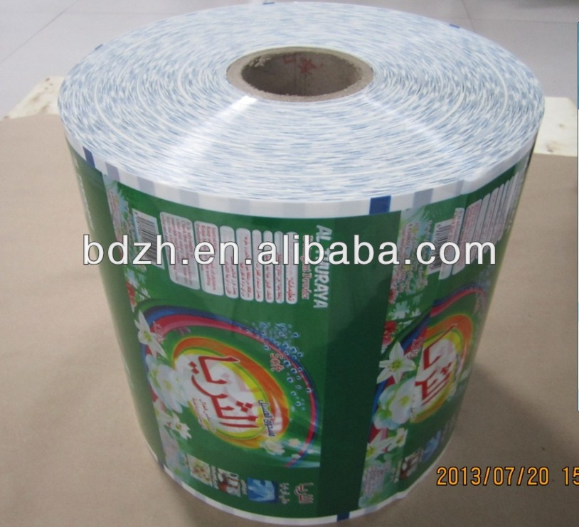 Customized Plastic Roll Film For Laundry Detergent Packing