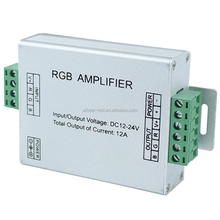 China factory LED RGB signal Amplifier DC12-24V 3 channel 12A RGB Amplifier for RGB LED Strip Power Repeater Console Controller