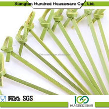 Durable useful stylish loop bamboo skewer