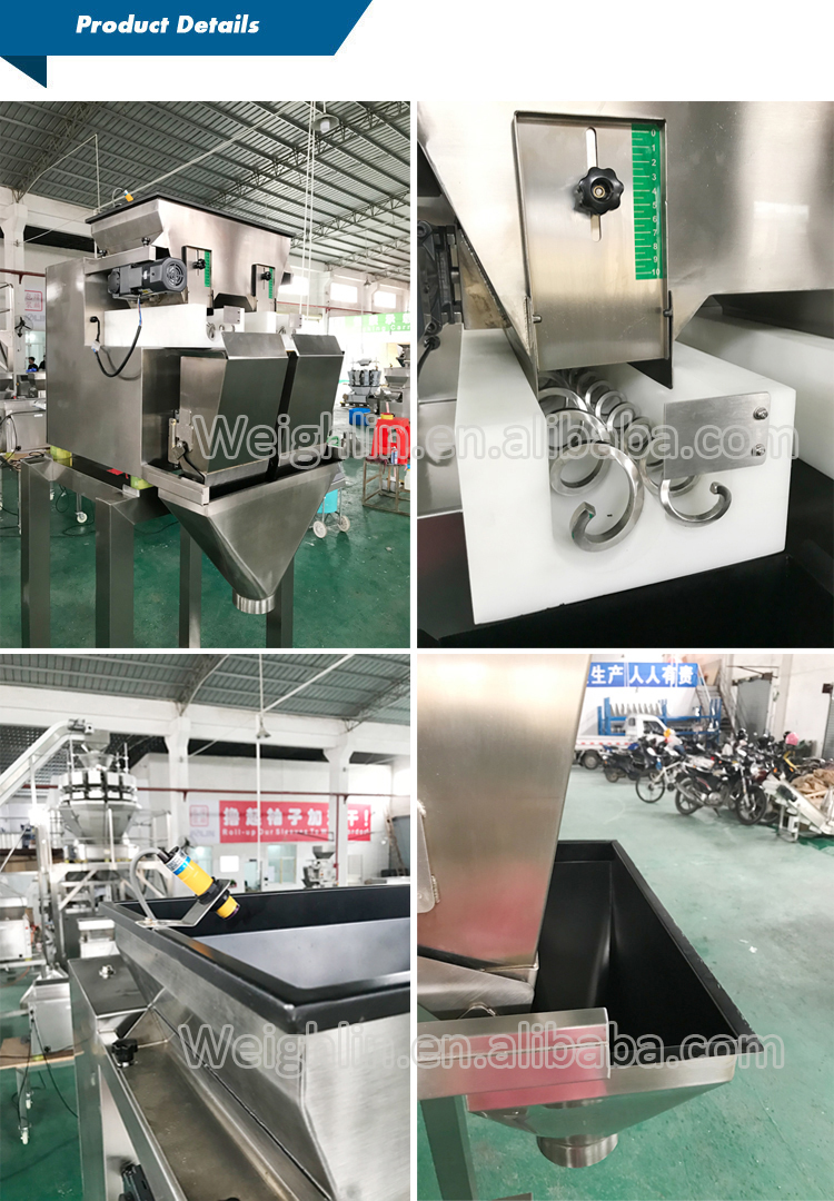 Screw linear weigher packaging machine for sticky viscous materials pickled vegetales pickled mustard brown sugar