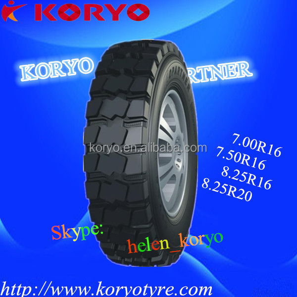 Mining &Building site 8.25R20 all steel radial truck tyre