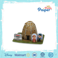 Syria puzzle model diy mini house